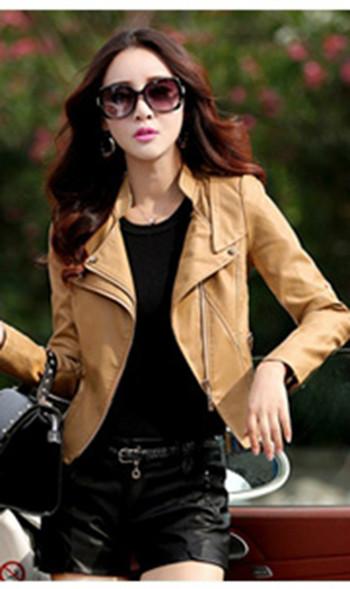 Дамско кожено яке от изкуствена кожа - различни модели