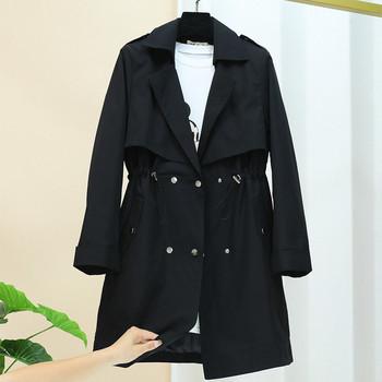 Ежедневно дамско палто с копчета и джобове