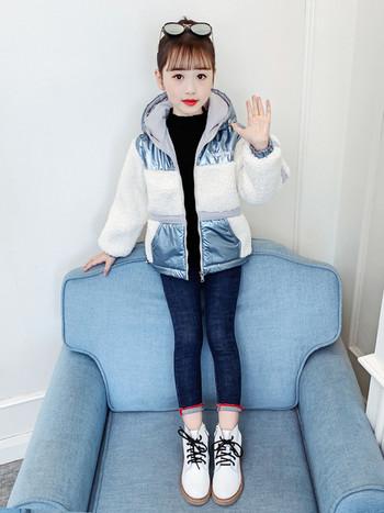 Детско зимно яке с качулка и пух
