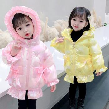 Модерно детско зимно яке за момичета