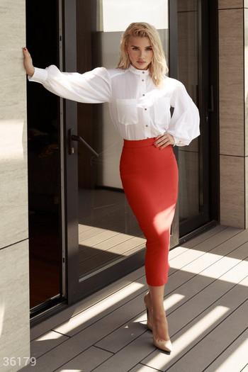 Блуза от памук с джобове