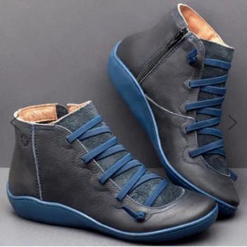 Дамски ниски есенни и зимни обувки от еко кожа черни, бордо, зелени, кафяви модели