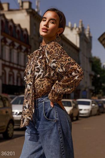 Блуза с животински принт