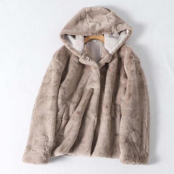 Φθινοπωρινό μπουφάν με κουκούλα - φαρδύ  μοντέλο