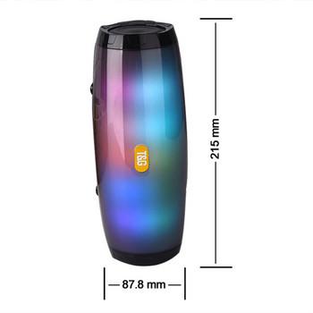 Безжична преносима тонколона с LED светлини, SD/TF card и радио