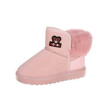 Νέο μοντέλο παιδικές μπότες με λαμπερό αποτέλεσμα για κορίτσια