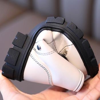 Νέο μοντέλο παιδικές έκο δερμάτινες μπότες  με κορδόνια - για κορίτσια