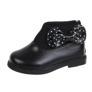 Παιδικές μπότες πουά με κορδέλα  για κορίτσια