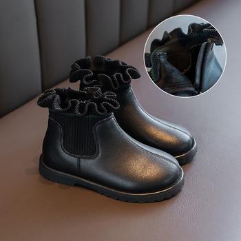 Σύγχρονες παιδικές μπότες από οικολογικό δέρμα και υφάσματα για κορίτσια