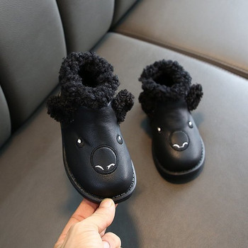Μοντέρνες παιδικές μπότες με γούνα και κέντημα για κορίτσια