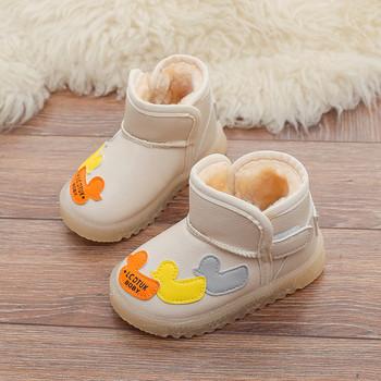 Νέο μοντέλο χειμερινές μπότες  με ζεστή επένδυση και απλικέ