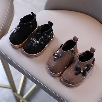 Παιδικές μπότες από οικολογικό σουέτ με τρισδιάστατο στοιχείο
