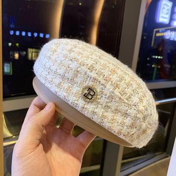 Нов модел зимна дамска шапка - тип барета