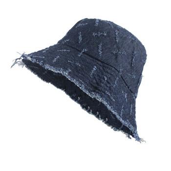 Дамска дънкова шапка тип рибарска