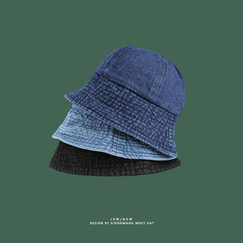 Унисекс дънкова шапка тип рибарска