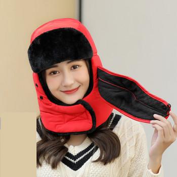 Топла зимна шапка с мека подплата