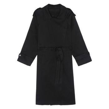 Дълъг дамски шлифер с джобове