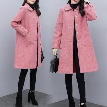 Нов модел дамско палто с джобове в няколко цвята