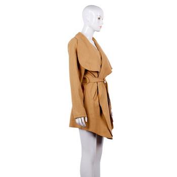 Тънко пролетно-есенно палто асиметричен модел