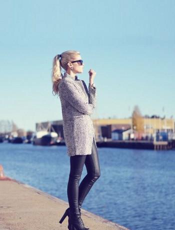 Модерно дамско палто с копче и джобове подходящо за есента