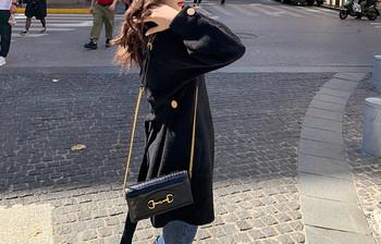 Дамско широко палто с колан