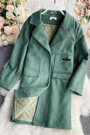 Ежедневно дамско палто прав модел с джобове
