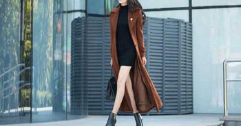Модерно дамско палто с копчета подходящо за зимата