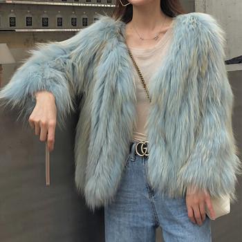 Нов модел дамско пухено палто подходящо за есента