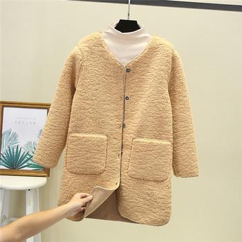 Ежедневно дълго дамско палто с копчета