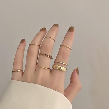 Модерен дамски комплект от пръстени