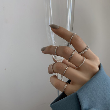 Дамски комплект от пръстени изчистен модел