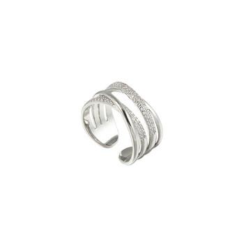 Актуален дамски пръстен с декоративни камъни