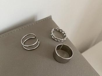 Дамски модерен комплект от три пръстена
