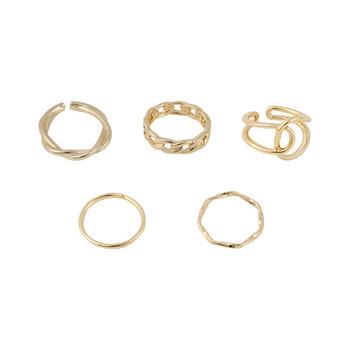 Модерен дамски комплект от пет пръстена