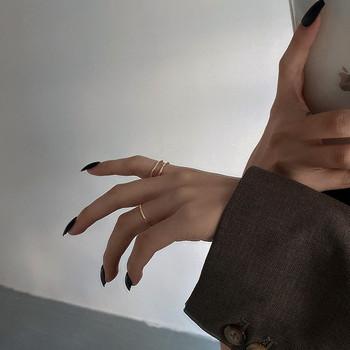 Стилен комплект от два дамски пръстена