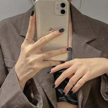 Комплект от дамски пръстени изчистен модел