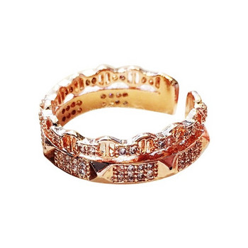 Стилен дамски пръстен с камъни