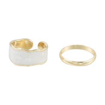 Модерен дамски комплект от два пръстена