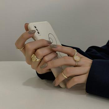 Модерен комплект от няколко дамски пръстена
