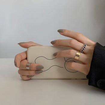 Ежедневен дамски комплект от три пръстена изчистен модел