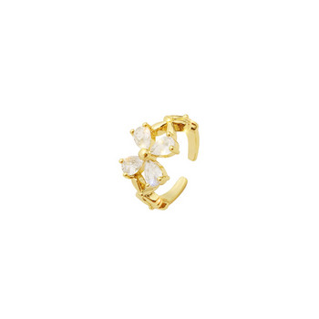 Дамски пръстен в два модела с пеперуда и камъни