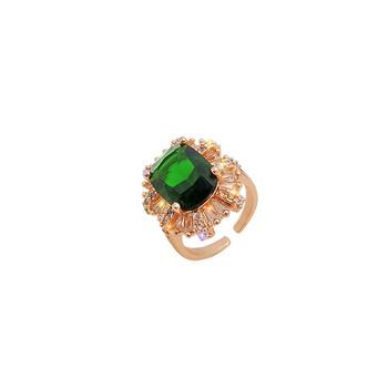 Стилен дамски пръстен с декоративни камъни в два модела