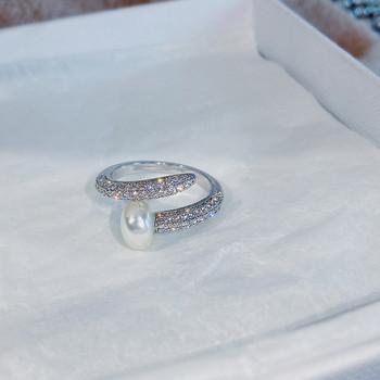 Дамски стилни пръстени в различна форма с декоративни камъни