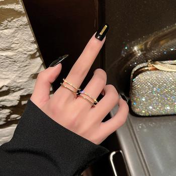 Дамски актуален пръстен в два модела с камъни