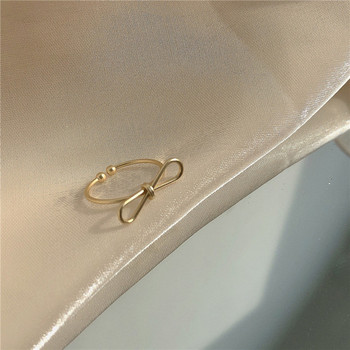 Модерен дамски тънък пръстен изчистен модел
