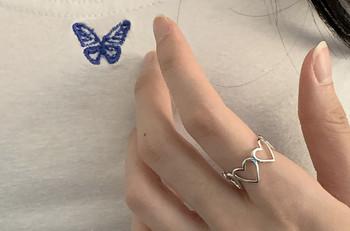 Дамски ежедневен пръстен със сърца