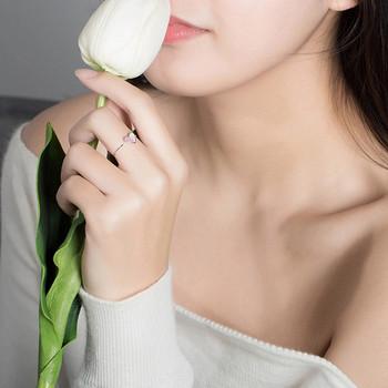 Ежедневен дамски тънък пръстен със сърце