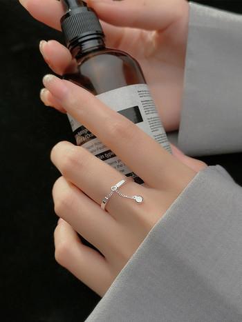 Дамски актуален пръстен с висулка