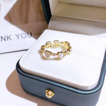 Модерен дамски пръстен със сърца
