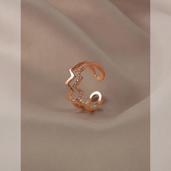 Дамски стилен пръстен с камъни
